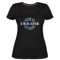 Женская стрейчевая футболка Made in Ukraine Голограмма