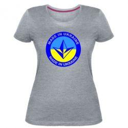 Женская стрейчевая футболка Made in Ukraine - FatLine
