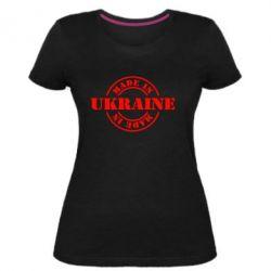 Жіноча стрейчева футболка Made in Ukraine