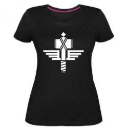 Жіноча стрейчева футболка Manowar Logo