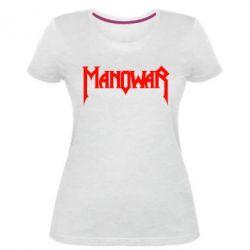 Женская стрейчевая футболка Manowar