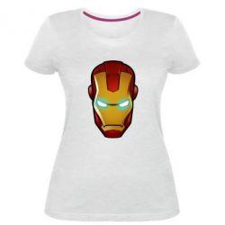 Женская стрейчевая футболка Маскаа Железного Человека