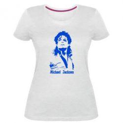 Женская стрейчевая футболка Майкл Джексон