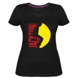 Женская стрейчевая футболка Майкл Джексон - FatLine