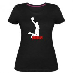 Женская стрейчевая футболка Майкл Джордан - FatLine