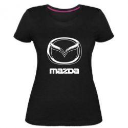Жіноча стрейчева футболка Mazda Logo