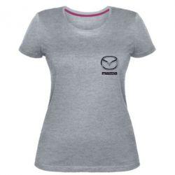 Женская стрейчевая футболка Mazda Small