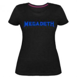 Женская стрейчевая футболка Megadeth
