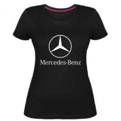 Женская стрейчевая футболка Mercedes Benz