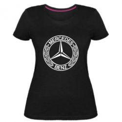 Жіноча стрейчева футболка Mercedes Логотип