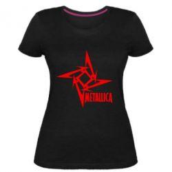 Женская стрейчевая футболка Metallica Logotype - FatLine