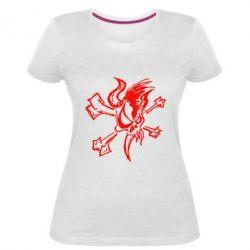 Женская стрейчевая футболка Metallica Scary Guy - FatLine