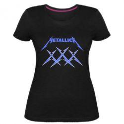 Жіноча стрейчева футболка Metallica XXX