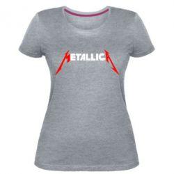 Женская стрейчевая футболка Металлика