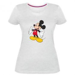 Жіноча стрейчева футболка Mickey Mouse