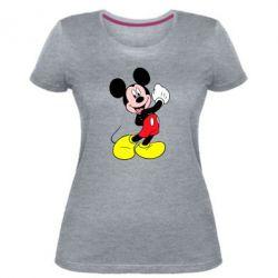 Жіноча стрейчева футболка Міккі Маус