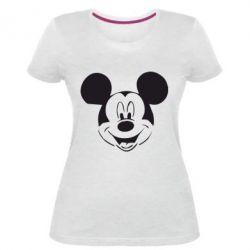 Жіноча стрейчева футболка Міккі Маус - FatLine