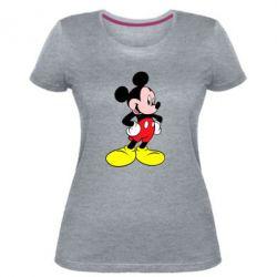 Жіноча стрейчева футболка Міккі