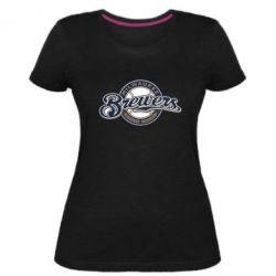 Жіноча стрейчева футболка Milwaukee Brewers