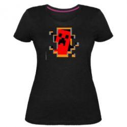 Жіноча стрейчева футболка Minecraft 3D