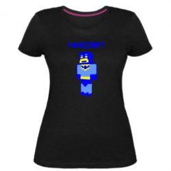 Женская стрейчевая футболка Minecraft Batman