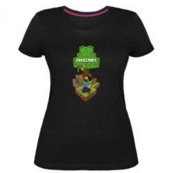 Жіноча стрейчева футболка Minecraft Steve