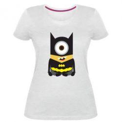 Жіноча стрейчева футболка Minion Batman