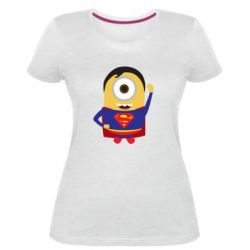 Жіноча стрейчева футболка Minion Superman