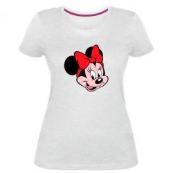 Женская стрейчевая футболка Минни Маус
