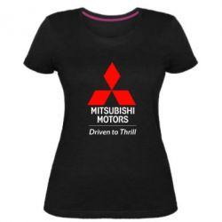 Женская стрейчевая футболка Mitsubishi Motors