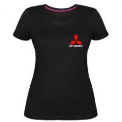 Женская стрейчевая футболка Mitsubishi small