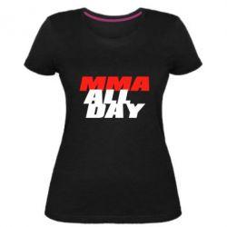 Женская стрейчевая футболка MMA All day