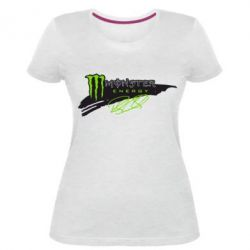 Жіноча стрейчева футболка Monster Energy Art