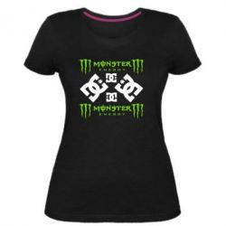 Жіноча стрейчева футболка Monster Energy DC Logo