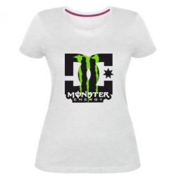 Жіноча стрейчева футболка Monster Energy DC