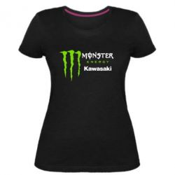 Жіноча стрейчева футболка Monster Energy Kawasaki