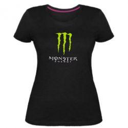 Женская стрейчевая футболка Monster Energy Logo - FatLine
