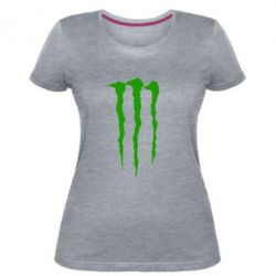Женская стрейчевая футболка Monster Energy Stripes 2