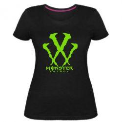 Женская стрейчевая футболка Monster Energy W - FatLine