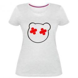 Женская стрейчевая футболка мордочка - FatLine