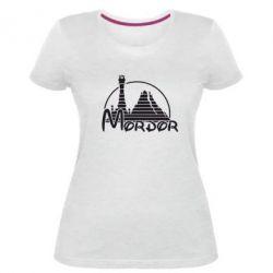 Женская стрейчевая футболка Mordor (Властелин Колец) - FatLine