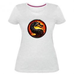 Жіноча стрейчева футболка Mortal Combat