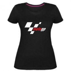 Женская стрейчевая футболка MOTO GP