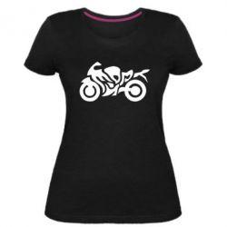 Женская стрейчевая футболка MOTO SPORT - FatLine