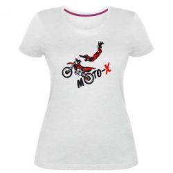 Женская стрейчевая футболка Moto-X