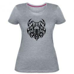 Женская стрейчевая футболка Мотоцикл с кельтами