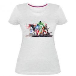 Женская стрейчевая футболка Мстители Арт