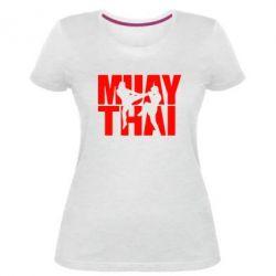 Женская стрейчевая футболка Муай Тай