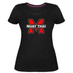 Женская стрейчевая футболка Muay Thai Big M - FatLine