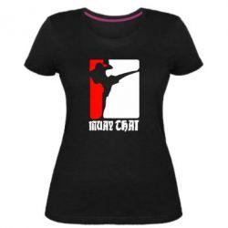 Женская стрейчевая футболка Muay Thai Champion - FatLine
